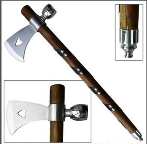 """19"""" Chief Native American Tomahawk Hatchet Replica Axe Functional Peace Pipe 114"""