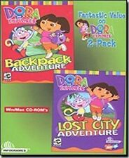 DORA THE EXPLORER  2 PC Software Game Set   NEW in Box  Lost City Backpack Adv