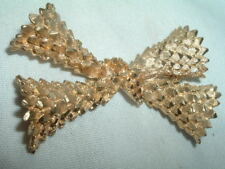 LARGE Vintage B. S. K. GOLDTONE BOW  PIN IN GIFT BOX