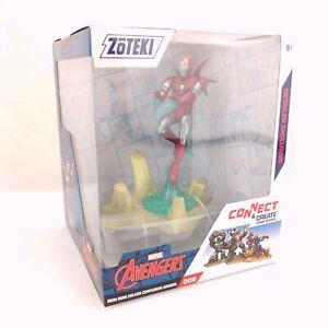 Zoteki Connect & Create Marvel Avengers Retailer Exclusive Iron Man Silver Armor