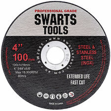 """50 x 4"""" 100MM CUTTING DISC WHEEL THIN ANGLE GRINDER STEEL & STAINLESS STEEL FLAP"""