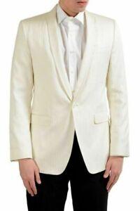 "Dolce & Gabbana ""Martini"" Men's Off White Striped Blazer Sport Coat US 38 IT 48"