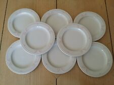 8 RARE Vintage MAYER CHINA  PINK MELROSE BREAD PLATES RESTAURANT WARE SYRACUSE