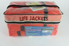 Life Jackets Preserver 4 Pack Type ll Adult Orange Jacket Boating Fishing Water