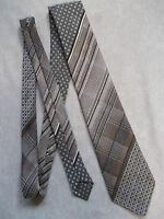 Vintage TOOTAL Tie Mens Necktie Retro Fashion TEXTURED BROWNS GEOMETRIC