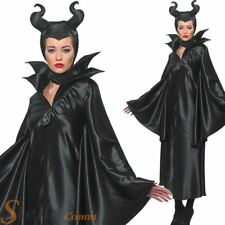 Ladies Maleficent Fancy Dress Costume Womens Official Disney Halloween Outfit