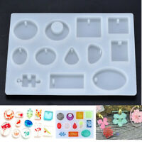 Silicone Rectangle Stone Cabochon Mould Epoxy Resin Jewelry Making DIY Craft#
