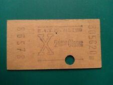 Ancien ticket de métro RATP X 1960