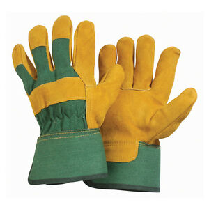 Briers Heavy Duty Tough Gloves Professional Leather Gauntlet Rigger Pond Drain