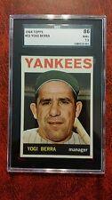 1964 Topps # 21 NY Yankees Yogi Berra SGC 86 7.5 NY Yankees