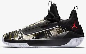Nike Jordan Jumpman Hustle Men's Basketball Shoes AQ0397 003 Black Olive