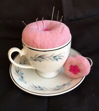 Handcrafted Pincushion Teacup Mum Grandma Mother's Day Birthday Gift