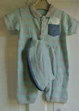 New Baby boy 100% cotton Romper and sunhat outfit 3-6 months