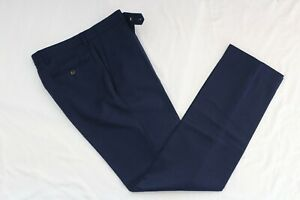 MARKS & SPENCER AUTOGRAPH PURE WOOL SUIT TROUSERS DRESS PANTS 30W 33L BNWT NAVY