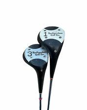Northwestern Herman Keizer Autographed Reg. 3525 Golf Clubs #1 & #3 Wood Used
