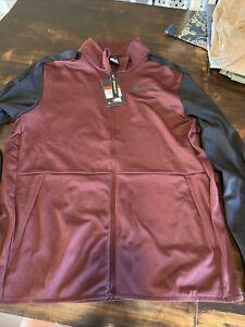 NWT Men Nike Dri Fit Standard Fit Maroon Pullover Jacket Size Large