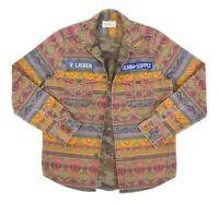 Mens Ralph Lauren Denim Supply Aztec Navajo Printed Overshirt Jacket Size L