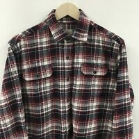 Mens Medium JACHS Plaid Flannel Shirt 41c