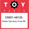 53801-48120 Toyota Fender sub-assy, front rh 5380148120, New Genuine OEM Part