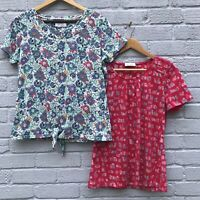 Per Una X2 Size 14 T-Shirt Bundle Building/Floral Print (Chest 52cm Across)