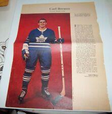 Carl Brewer # 10 Weekend  Magazine Photos 1963-64  Toronto Star lot 4