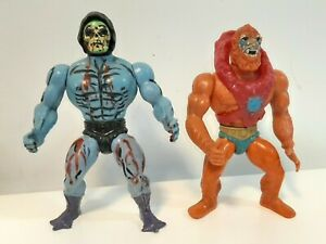 Vintage Masters of the Universe Action Figures - Beastman & Half Boot Skeletor