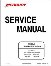 Mercury 210 / 240 HP M2 Jet Drive Outboard Motor Service Repair Manual CD