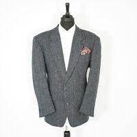 Fantastic Creation Gross Harris Tweed Vintage Blazer Blue Herringbone 48R