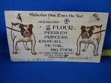Vintage Ink Blotter Peerless Flour Bull Dogs Goe. H. Jung Co. Cincinnati Ohio