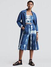 NWT Anthropologie Levi's Tie Dye Denim High Waist Wide Leg Culotte Crop Jean 29