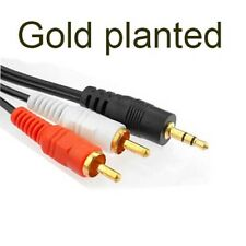 gold 3.5mm To 2 RCA AudioY Adapter Cable//Lead For CreativeZen MP3/MP4 Player