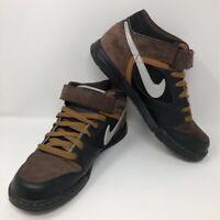 Nike Mens Nyx Skate Shoes Brown Black 344608-002 Lace Up Mid Top Sneakers 10 M
