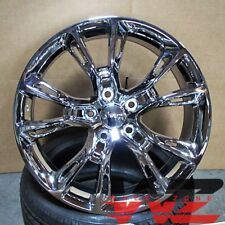 "20""  SRT-8 Stye Chrome Wheels Fits Jeep Grand Cherokee Wrangler 5x127 Rims"