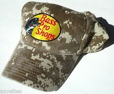 NEW! Camo Cotton Cap by BASS PRO SHOPS Adult Unisex Fishing Day Hat