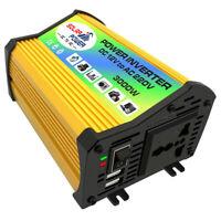 Inversor de Energía 3000W DC 12V a AC 220V Coche Convertidor Power Inverter USB