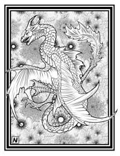 Coloring Page - Dragon # 2 -LIHAIA (Hi-Res JPG file will be sent by email)