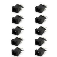 10* Black 5.5mm x 2.1mm  DC Power Supply Jack Socket Female PCB Mount Connector