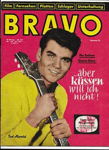 BRAVO Nr.36 von 1960 Brigitte Bardot, Ted Herold, Christine Kaufmann.... - TOP