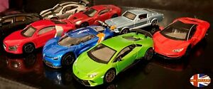 Collection of High Quality Diecast Metal Toy Model Cars by Burago 1:43 Scale
