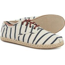 NEW TOMS Natural Cordones Woven Striped Sneaker, Women Size 7.5