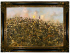 Paxson Custer's Last Stand 1899 Wood Framed Canvas Print Repro 19x28