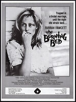 THE BURNING BED__Orig. 1984 Trade AD promo / poster__FARRAH FAWCETT__PAUL LeMAT