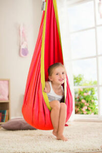SENSORY ROOM QUIET DEN SWING CHAIR ORANGE AUTISM ASPERGES ADHD RELAX CHILL MOOD