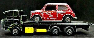 Matchbox Super Kings: DAF Flatbed Truck Vintage 1971 K-13 Painted +bonus Mini