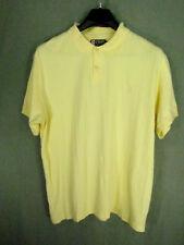 Chaps Ralph Lauren Men's Polo Shirt Size XXL Yellow Short Sleeves