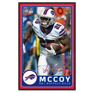 Buffalo Bills Wincraft NFL LeSean McCoy 11x17 Wood Sign With Bevel FREE