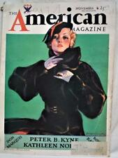 THE AMERICAN MAGAZINE NOVEMBER 1933 VINTAGE FICTION STORIES GENERAL INTEREST