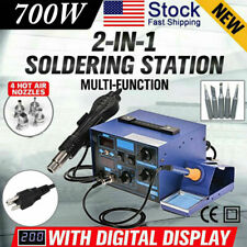 2in1 862d Smd Soldering Iron Hot Air Rework Station Hot Air Gun Digital Display