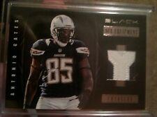 2012 PANINI BLACK JERSEY NFL EQUIPMENT ANTONIO GATES SAN DIEGO CHARGERS #12/49