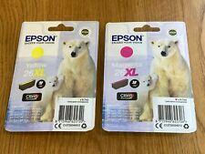 Genuine Epson 26XL Yellow & Magenta ink Cartridge Polar Bear